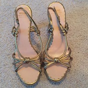 Moschino cheap & chic strappy gold sandals